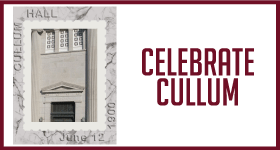 April's 150th Anniversary Sticker Celebrates Cullum Hall!