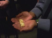 The gold ingot comprised of the 15 rings.