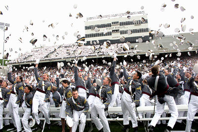 West Point Graduation Hat Toss--USMA 2009