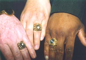 Rings were the focus of discussion.
