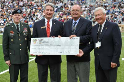 West Point Class of 69 gives check at Reunion